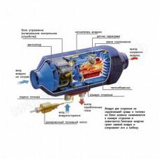 Airtroniс B5, 12В / Бензиновый отопитель салона Eberspacher, без М/К и У/У.